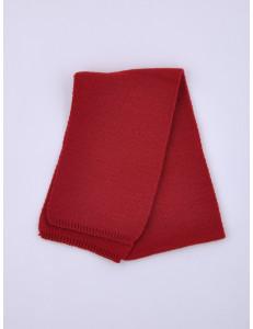 Шарф теплый темно-красного цвета на позднюю осень и зиму