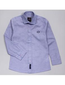 """Рубашка для мальчиков голубого цвета с эмблемой """"Майкл"""""""